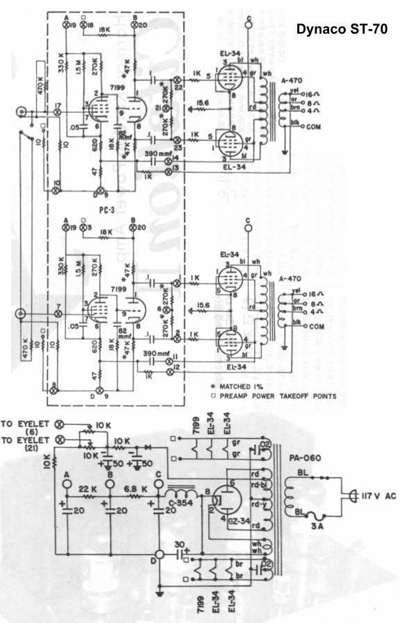 美国大力宝70胆机推挽电路图